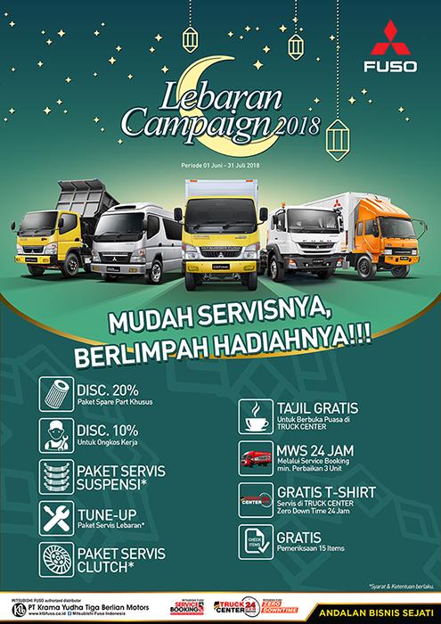 """Lebaran Service Campaign 2018 """"Mudah Servisnya Berlimpah Hadiahnya"""""""